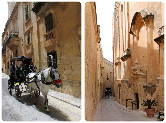 Horse carriages in Mdina Malta