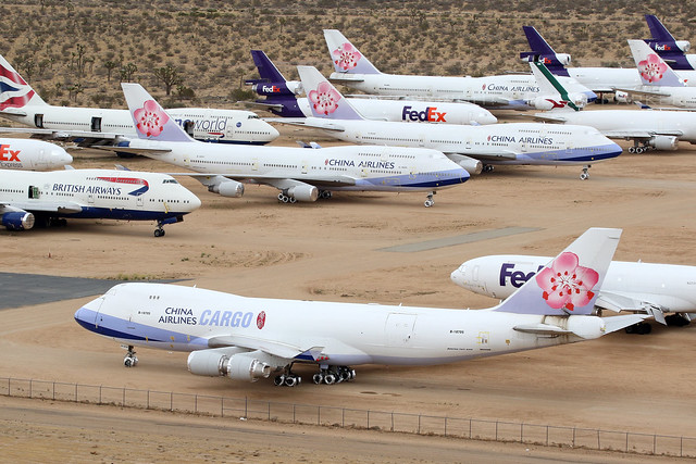 China Airlines in Victorville