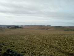 Looking towards Longaford Tor