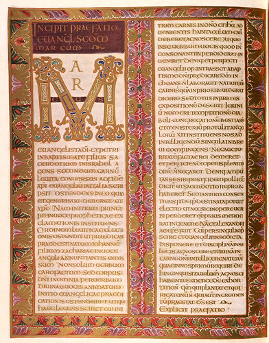 009-Prologo del evangelio de Marcos-Evangeliar  Codex Aureus - BSB Clm 14000-© Bayerische Staatsbibliothek