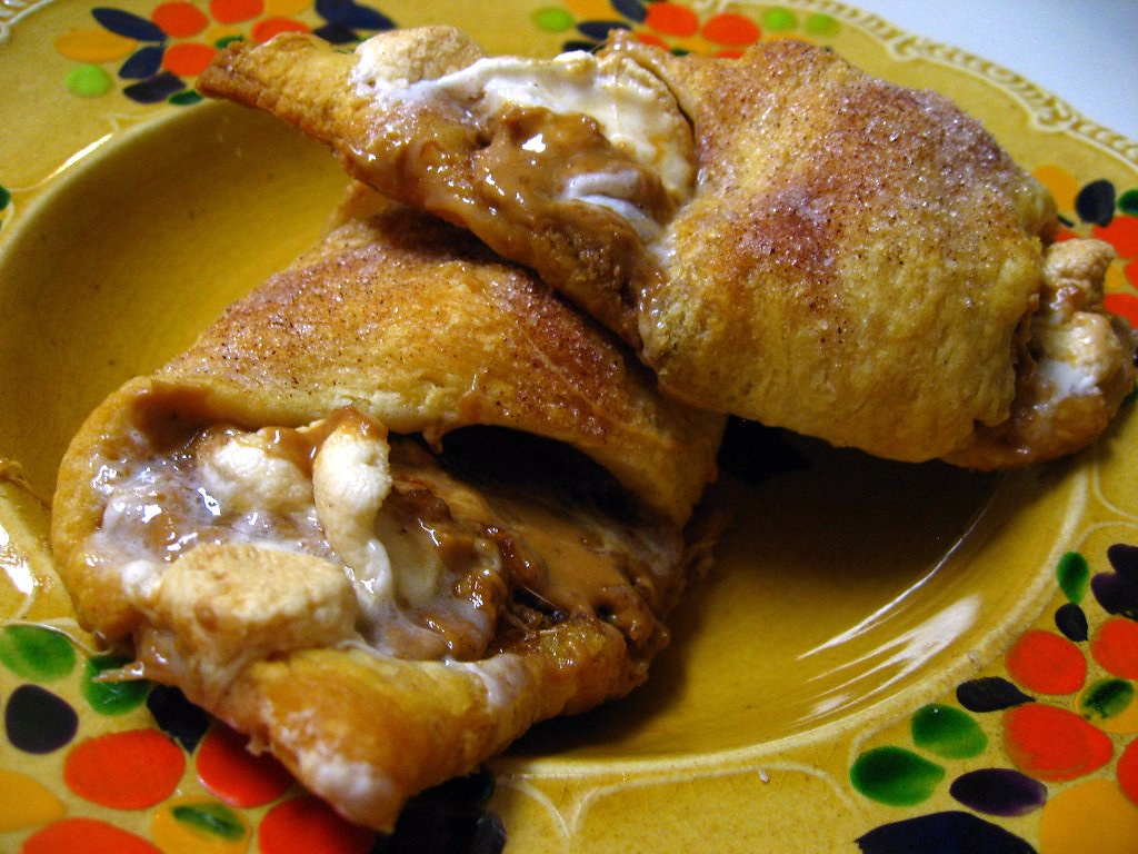 Biscoff and Marshmallow Crescent Rolls
