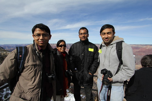 Tahseen, Pushpita, Naim, Nazrul and Sazzad (behind the camera) @ Grand Canyon