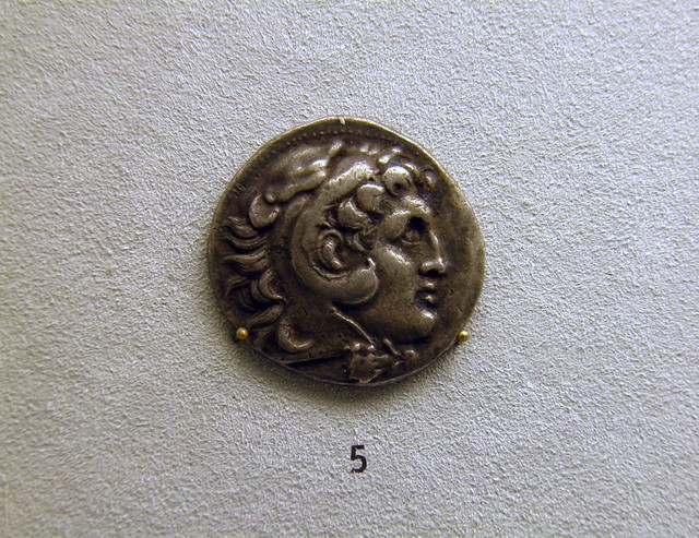 Tetradrachme of Alexander the Great, 280 BC, Pergamon: Panorama of the Ancient City Exhibition, Pergamon Museum, Berlin