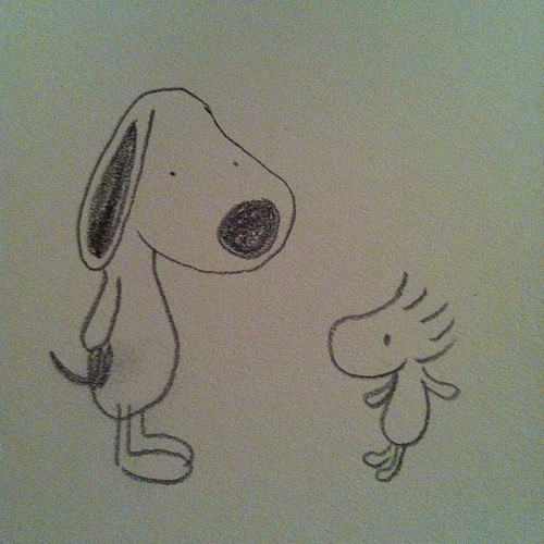 Snoopy and Woodstock from memory.