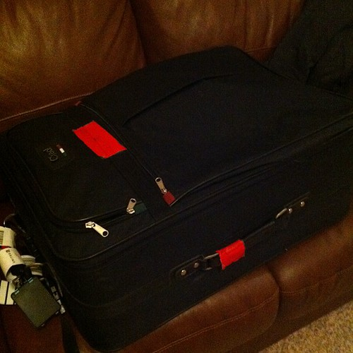 Ten pm and I'm reunited with my suitcase! #blissdom