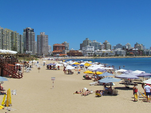Punta del Este, Uruguay, a popular beach resort