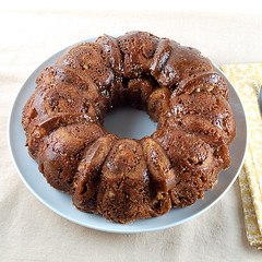 Pecan Bourbon Cinnamon Roll Monkey Bread