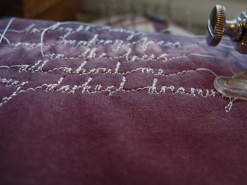 embroidery handwriting