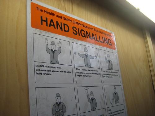Hand Signals - Crossrail Site
