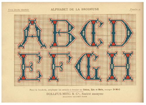 012-Alphabet de la Brodeuse1932- Thérèse de Dillmont