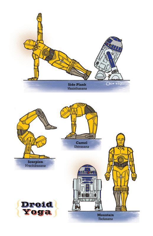 Yoga Star Wars  c-3po r2d2