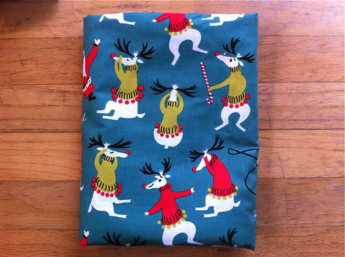 Tammis Keefe holiday reindeer fabric (Michael Miller)