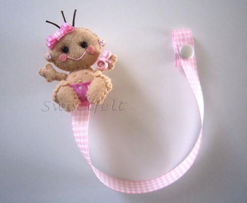 ♥♥♥ Para as chupetinhas das meninas fofinhas... by sweetfelt \ ideias em feltro