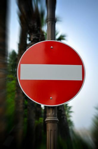 Forbidden entry sign