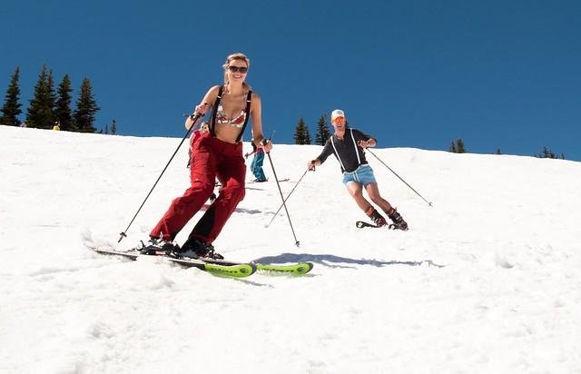 Crystal Mountain spring skiing
