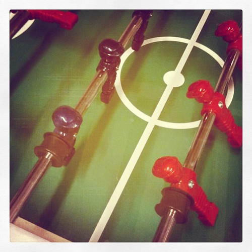 At IKEA playing table soccer while waiting until it's our turn to return something #12von12 #12on12th