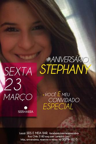 Flyer Aniversário - Stephany by chambe.com.br