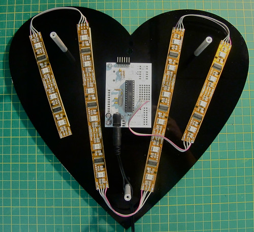 LED heart (internal circuit view)