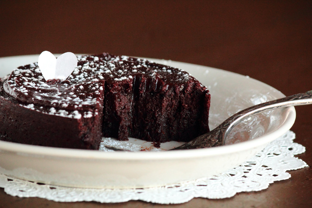 Flourless Chocolate Rum Cake with Chocolate Rum Glaze
