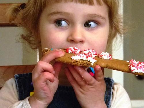 half birthday gingerbread man