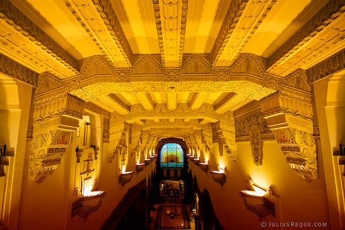 PHOTO - Tonight in Vancouver: Mayan Art Deco Ceiling inside the Marine Building