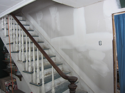 wall fixed in the stairs