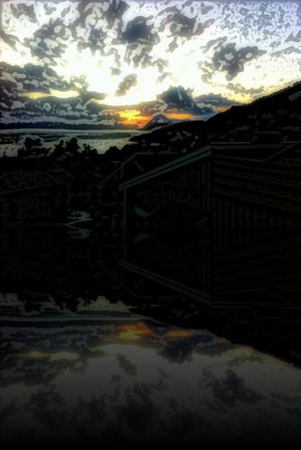 sunset norway reflection molde iphone norge norwegen reflexions sunsetazo reflet noruega noorwegen noreg sólarlag iphonegrafi iphoneshot oc erlingsivertsen camphone kameramobil