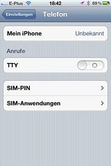 TTY beim Apple iPhone: Ausgeschaltet (endlich!)