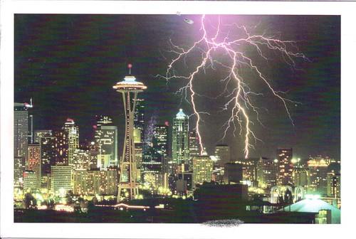 Lightning over Seattle