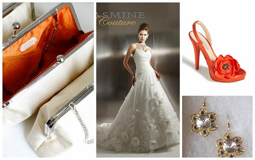{Orange + Flower Details} Bridal Style by Nina Renee Designs