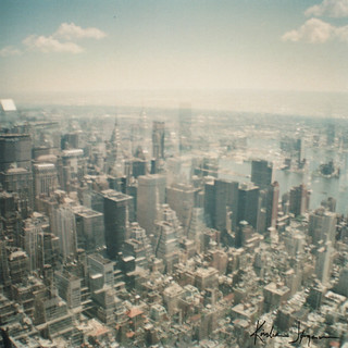 View from Empire State - New York - Double exposure