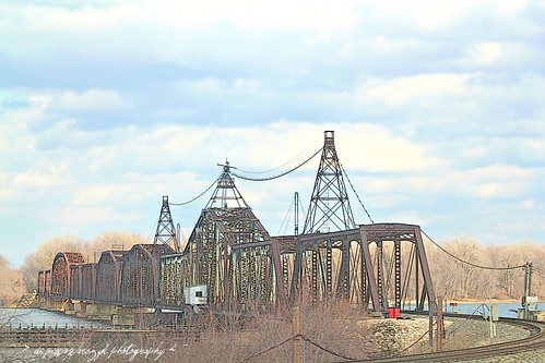 Mississippi River Train Trestle by DiPics