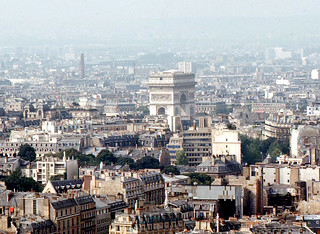 Paris - Arch of Triumph from Eiffel Tower