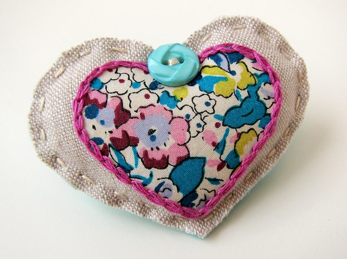 My Scrappy Sweetheart Brooch