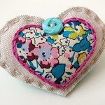 Scrappy Sweetheart Brooch