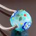 Charm bead : Blue day garden