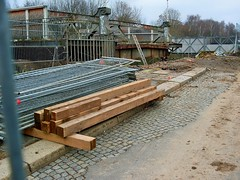 wall, wood, beam, lumber, iron, construction,