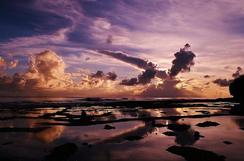 無料写真素材, 自然風景, ビーチ・海岸, 雲, 朝焼け・夕焼け