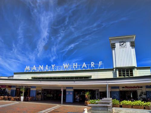 Manly Wharf c.1856