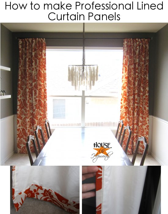 How To Make Your Own Curtains No Sew IKEA Panels