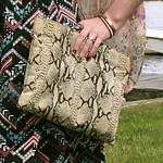 snake print clutch from tag sale in Lake Success