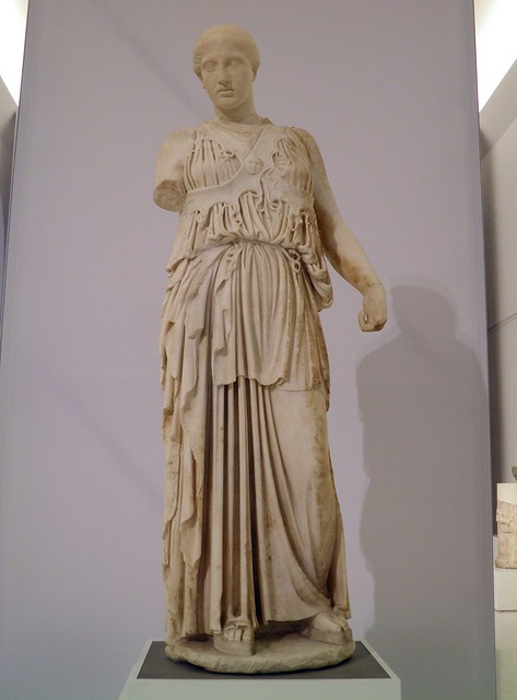 Athena with cross-strapped aegis, 180-170 BC, Pergamon: Panorama of the Ancient City Exhibition, Pergamon Museum, Berlin