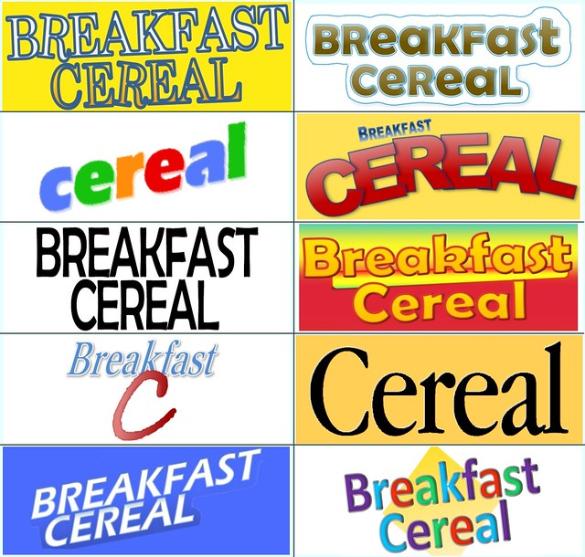 Breakfast Cereals quiz grid