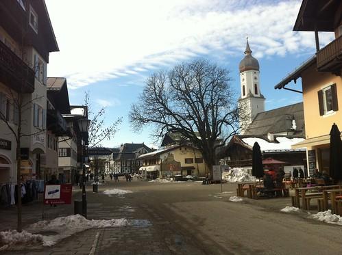 Winter in Garmisch - in der Fußgänger-Zone