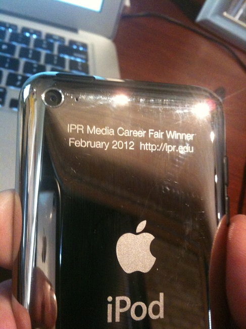 Engraved iPod