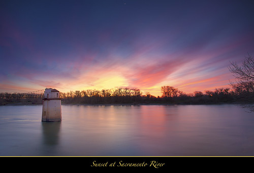 "Sunset at Sacramento River by Joalhi ""Around the World"""