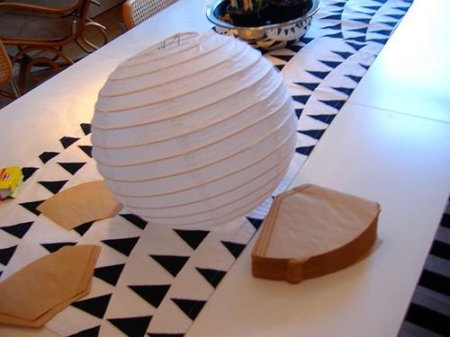 kuchenbude kaffeefilterlampe upcycling dienstag. Black Bedroom Furniture Sets. Home Design Ideas