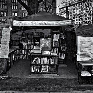 "The People's Library, ""None Shall Pass"", Occupy DC, McPherson Square, Washington, DC"