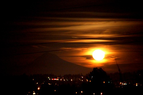 The Moon and Mt. Hood