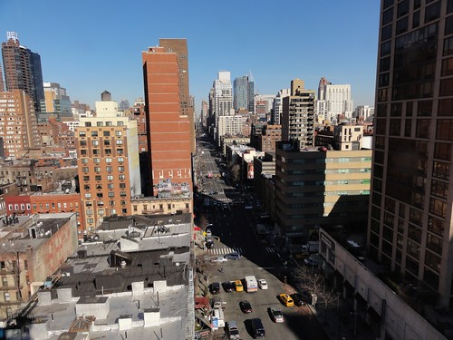 View of Upper East Side from Roosevelt Island Tramway New York